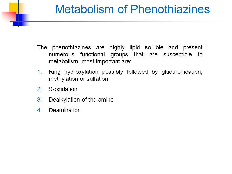 Metabolism of Phenothiazines
