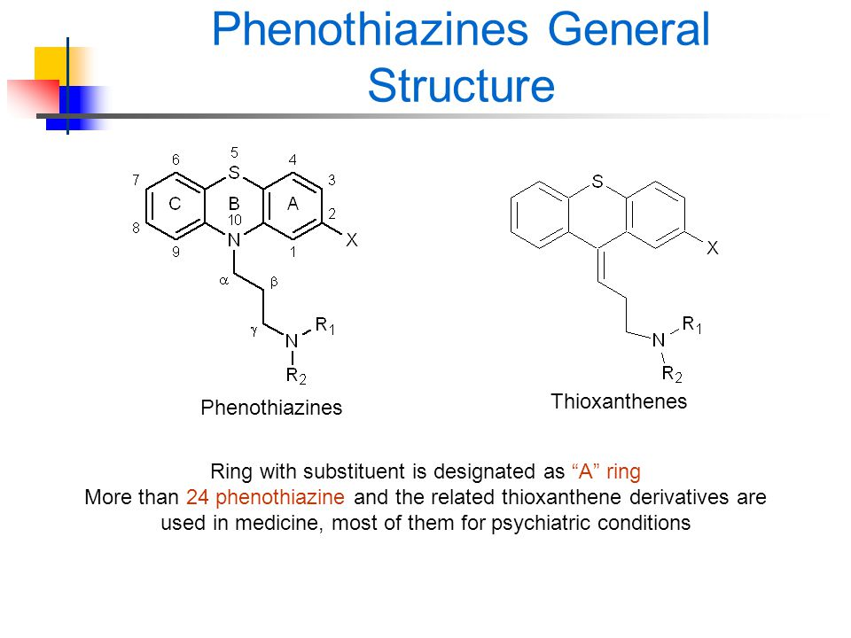 Phenothiazines General Structure