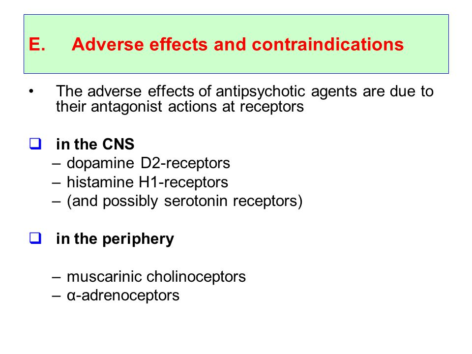 Adverse effects and contraindications
