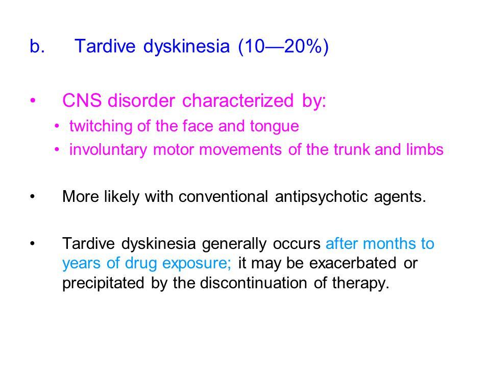 Tardive dyskinesia (10—20%)