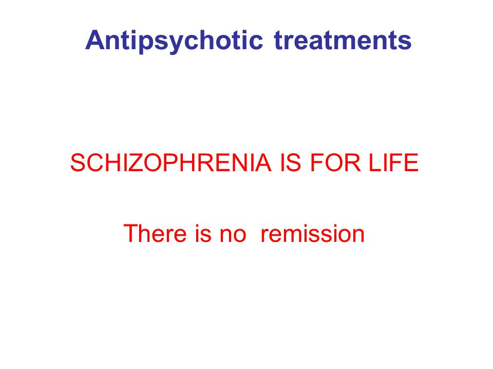 Antipsychotic treatments