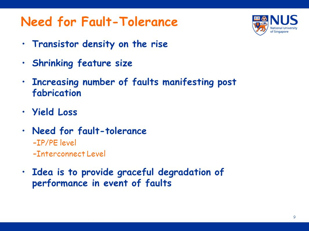 Need for Fault-Tolerance