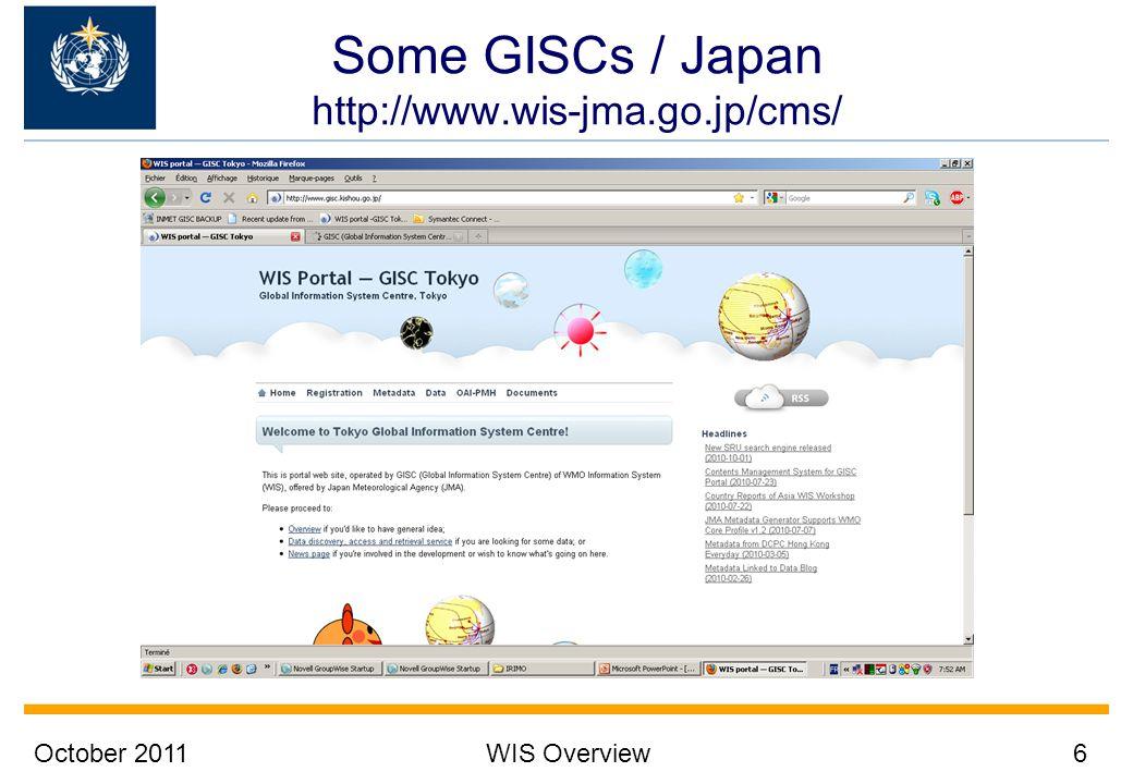 Some GISCs / Japan http://www.wis-jma.go.jp/cms/