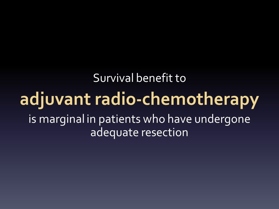 adjuvant radio-chemotherapy