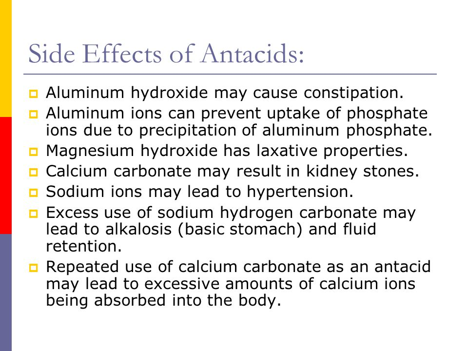 Side Effects of Antacids:
