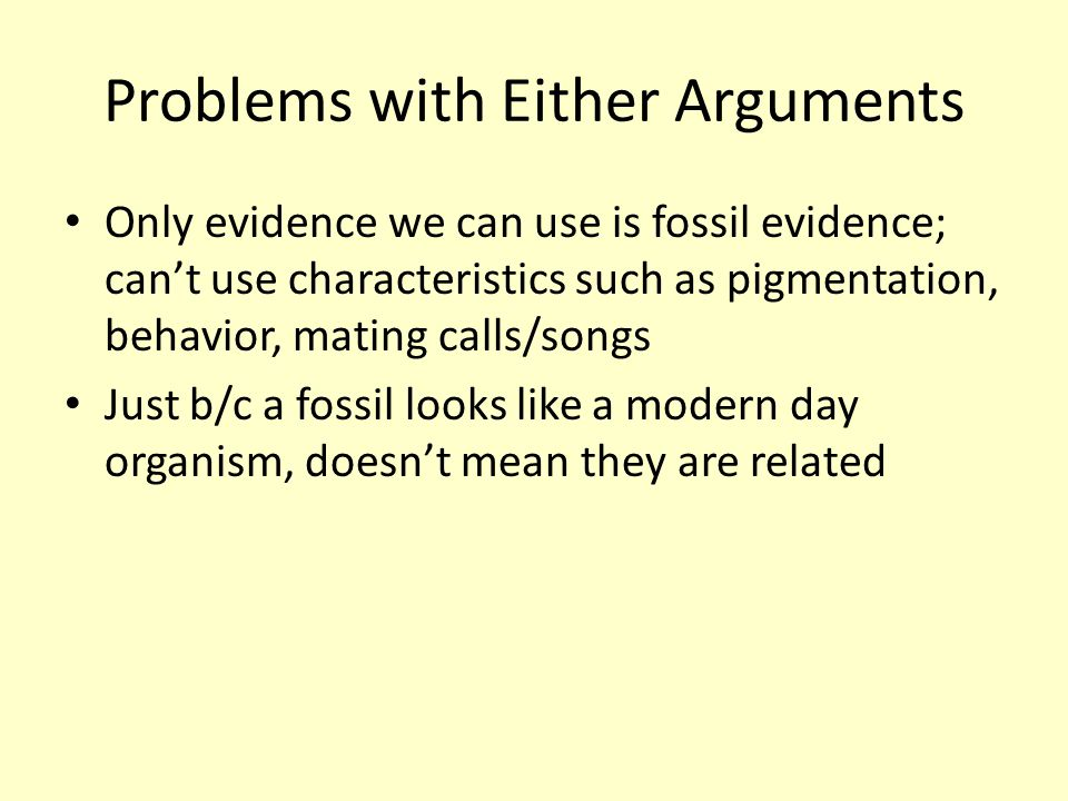 Problems with Either Arguments
