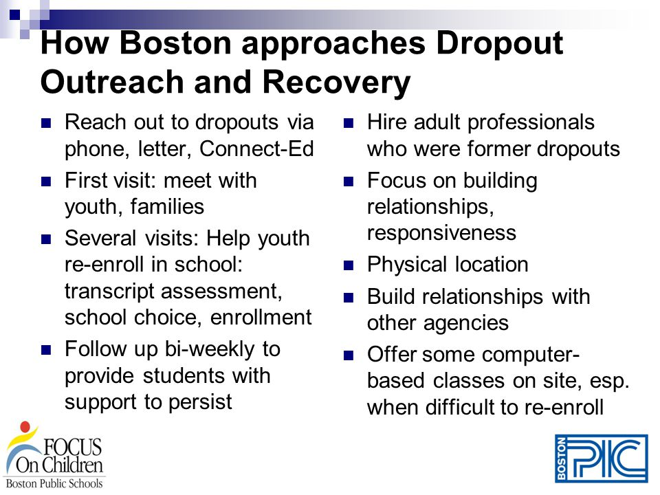 How Boston approaches Dropout Outreach and Recovery