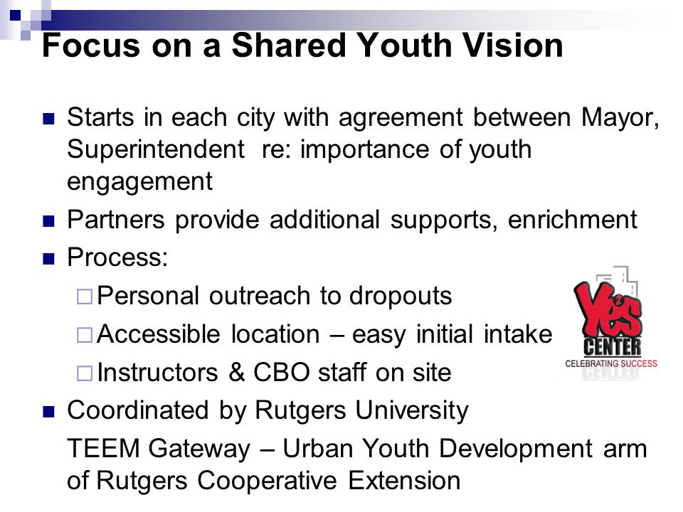 Focus on a Shared Youth Vision