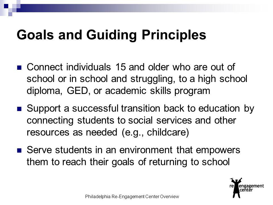 Goals and Guiding Principles