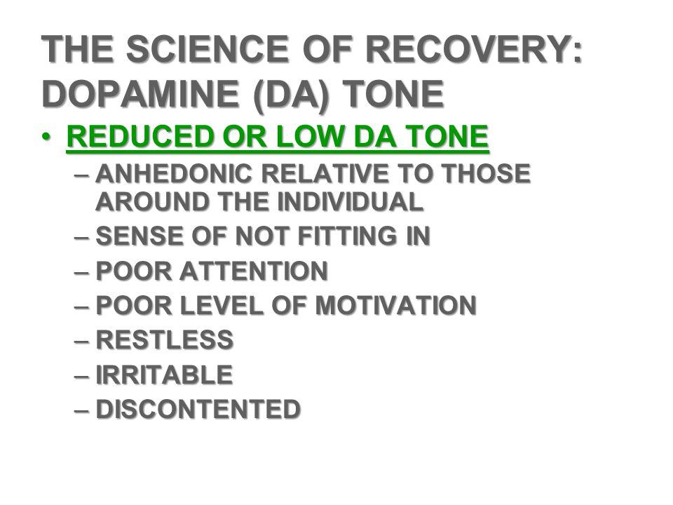 THE SCIENCE OF RECOVERY: DOPAMINE (DA) TONE