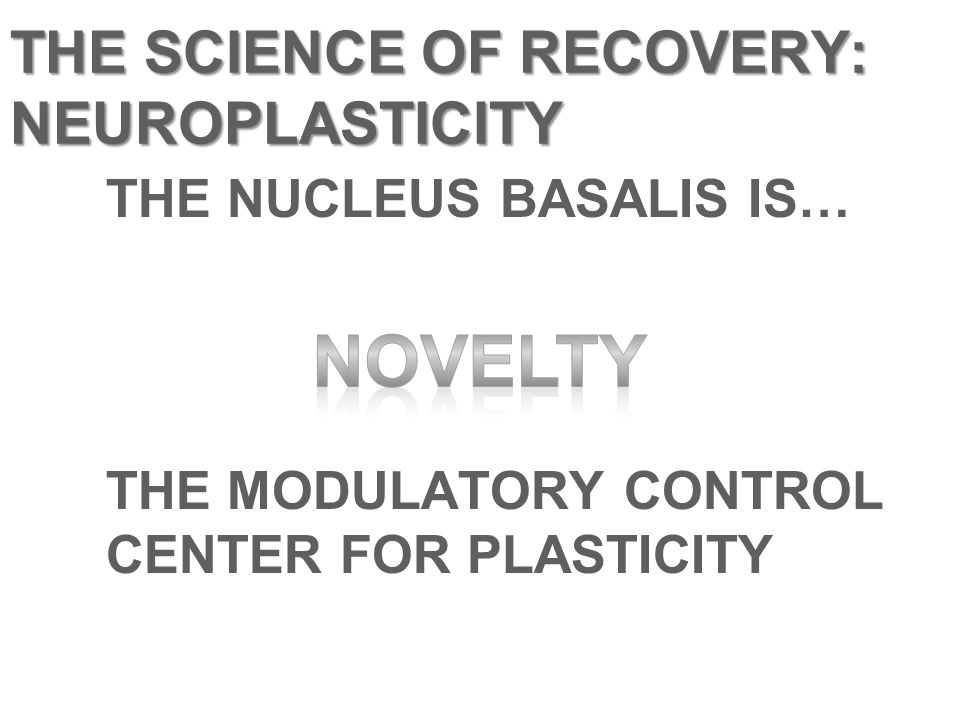 THE SCIENCE OF RECOVERY: NEUROPLASTICITY