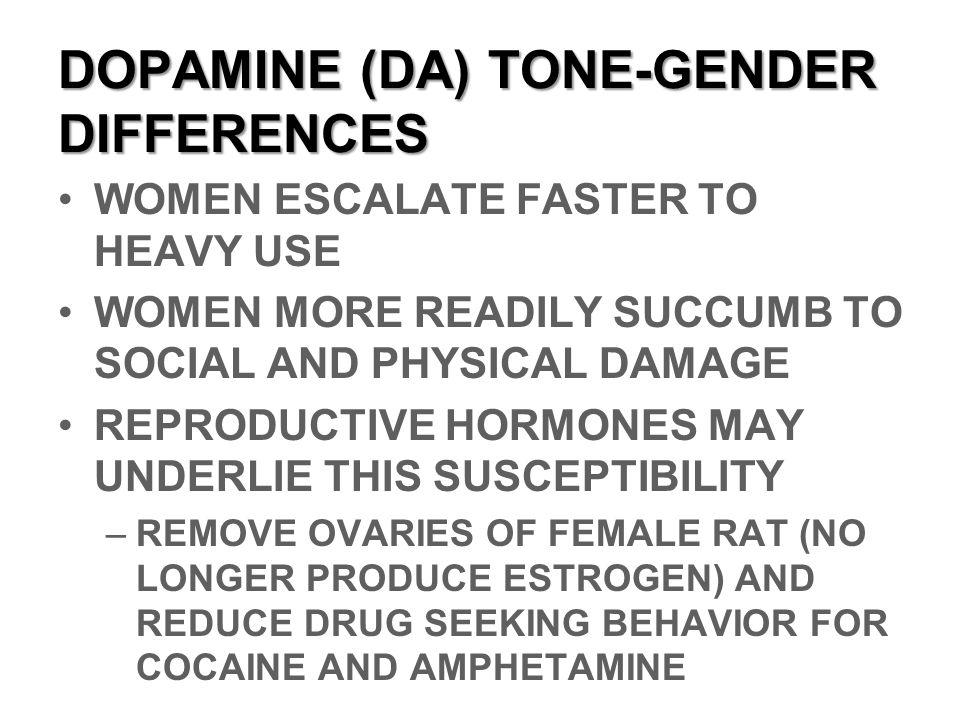 DOPAMINE (DA) TONE-GENDER DIFFERENCES