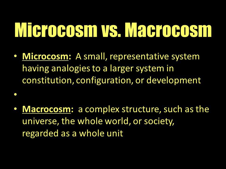 Microcosm vs. Macrocosm