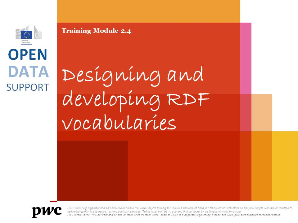 Training Module 2.4 Designing and developing RDF vocabularies