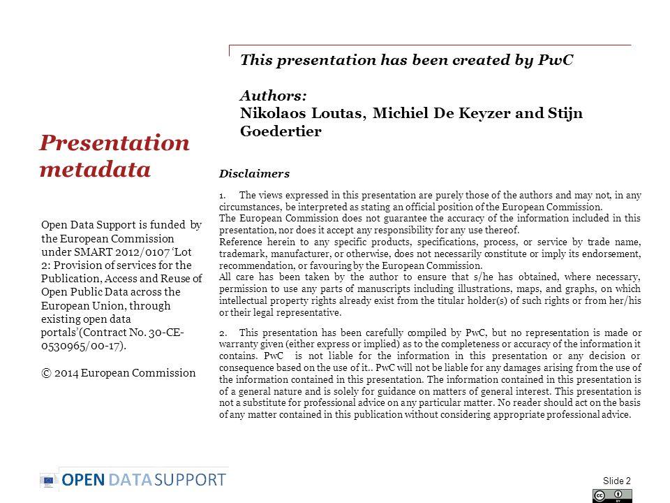 Presentation metadata