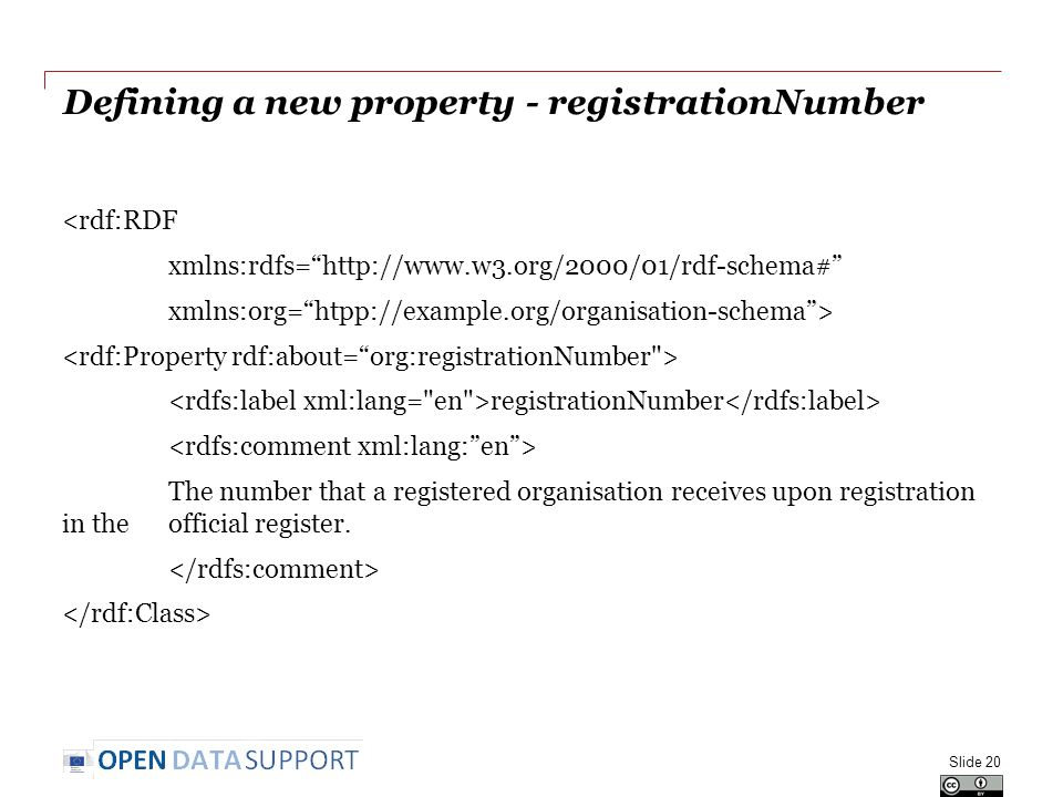 Defining a new property - registrationNumber