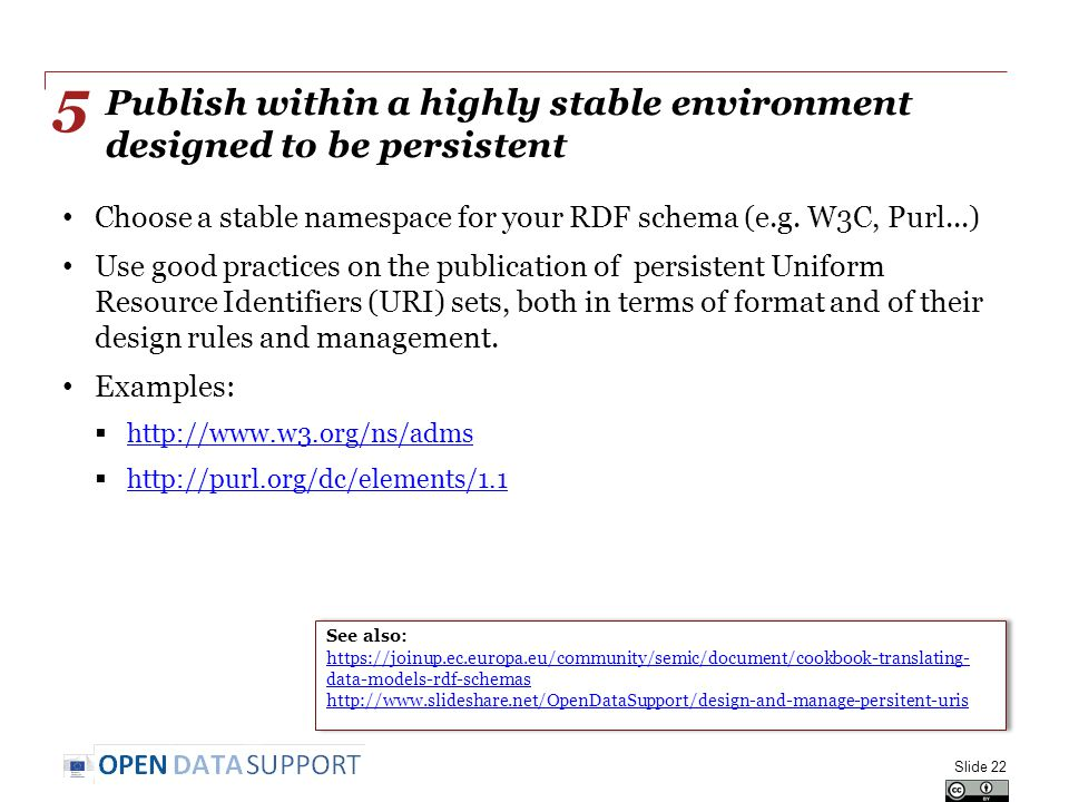 Publish within a highly stable environment designed to be persistent