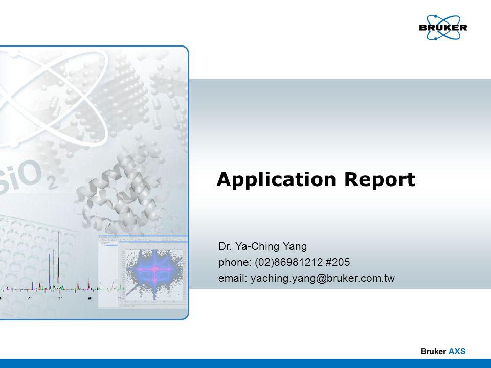 Application Report Dr. Ya-Ching Yang phone: (02)86981212 #205