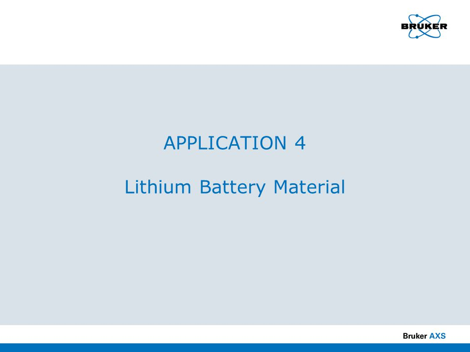 APPLICATION 4 Lithium Battery Material