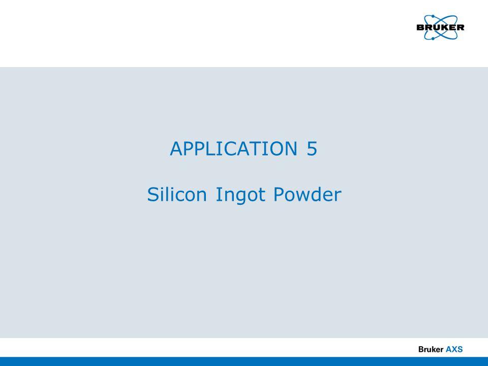 APPLICATION 5 Silicon Ingot Powder