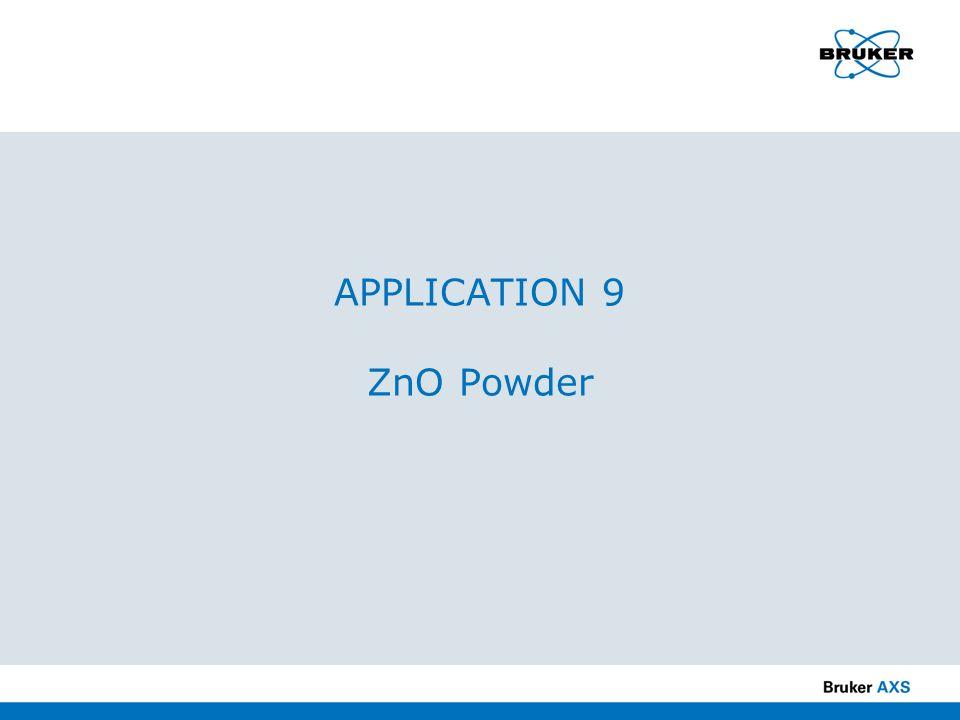 APPLICATION 9 ZnO Powder