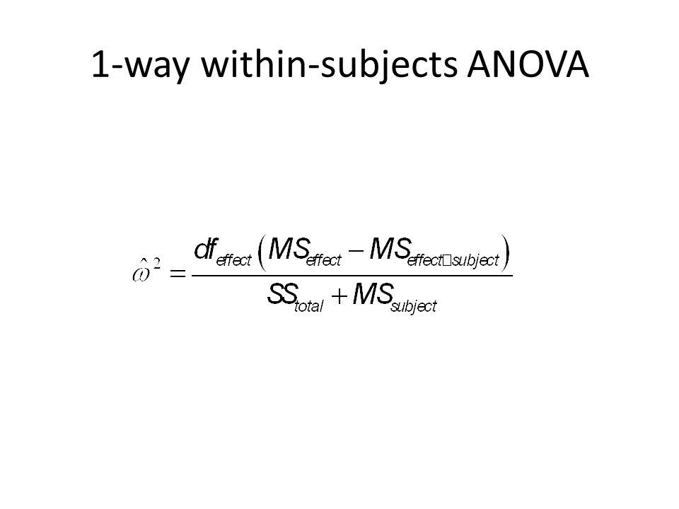 1-way within-subjects ANOVA