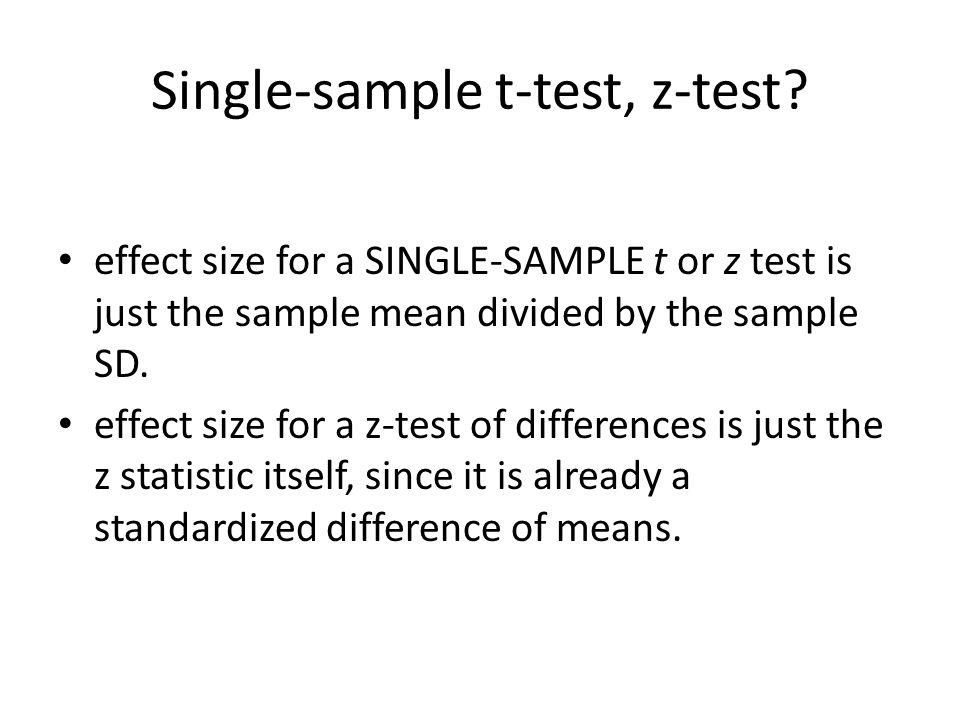 Single-sample t-test, z-test