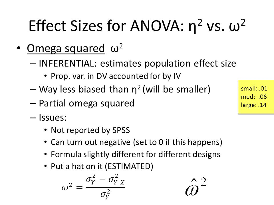 how to get partial eta squared in one-way anova