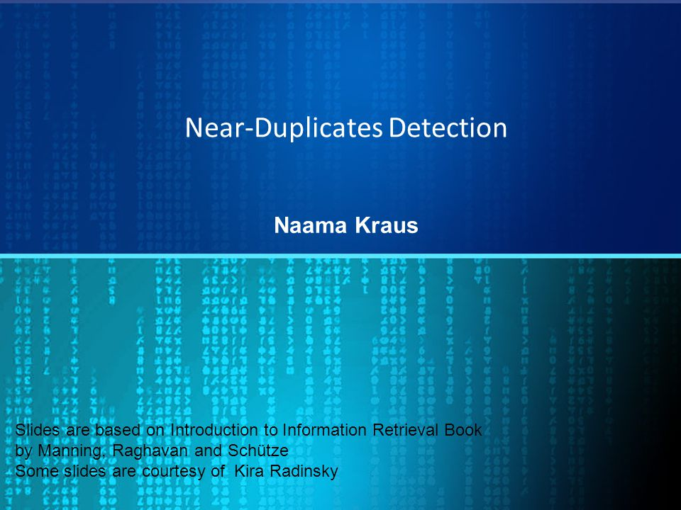 Near-Duplicates Detection