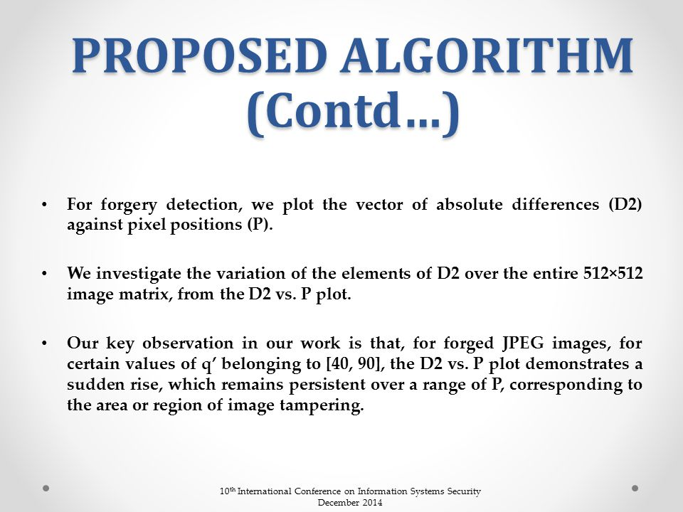 PROPOSED ALGORITHM (Contd…)