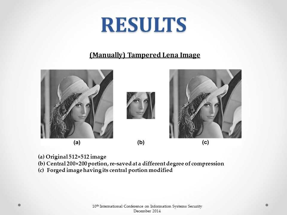 (Manually) Tampered Lena Image