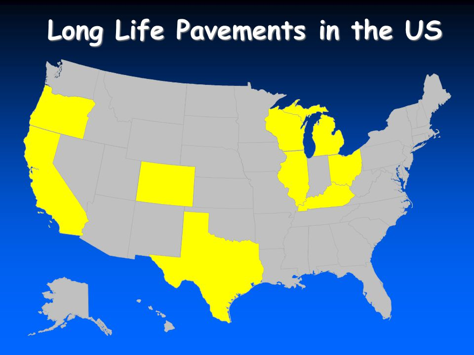 Long Life Pavements in the US