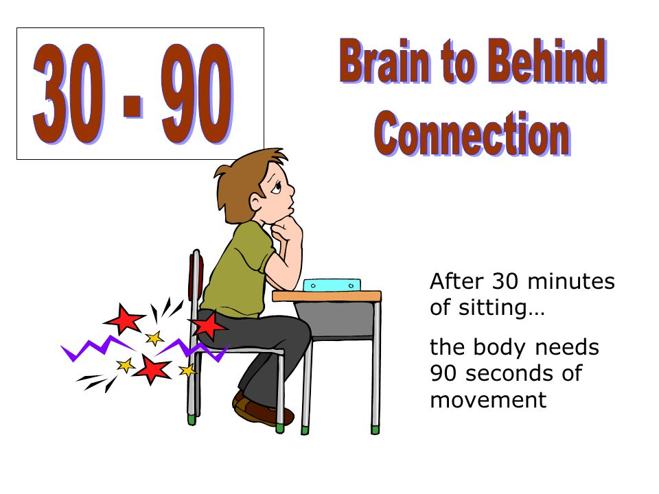Brain to Behind 30 - 90 Connection After 30 minutes of sitting…
