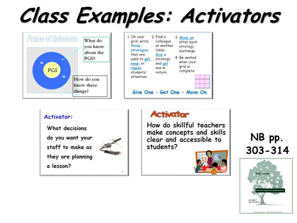 Class Examples: Activators