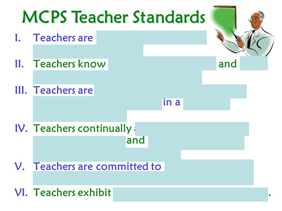 MCPS Teacher Standards