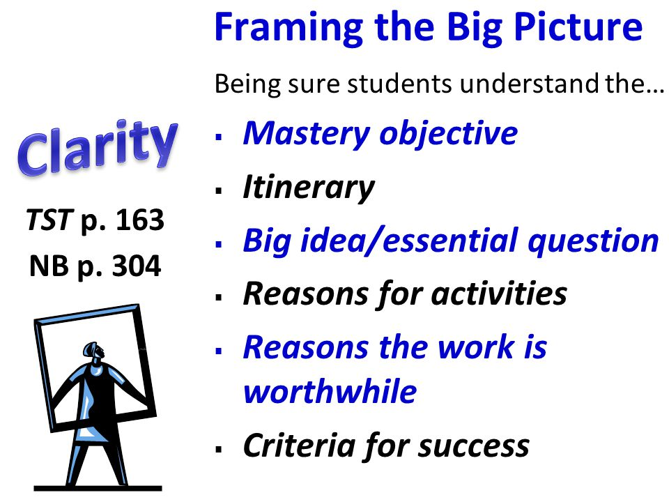 Framing the Big Picture
