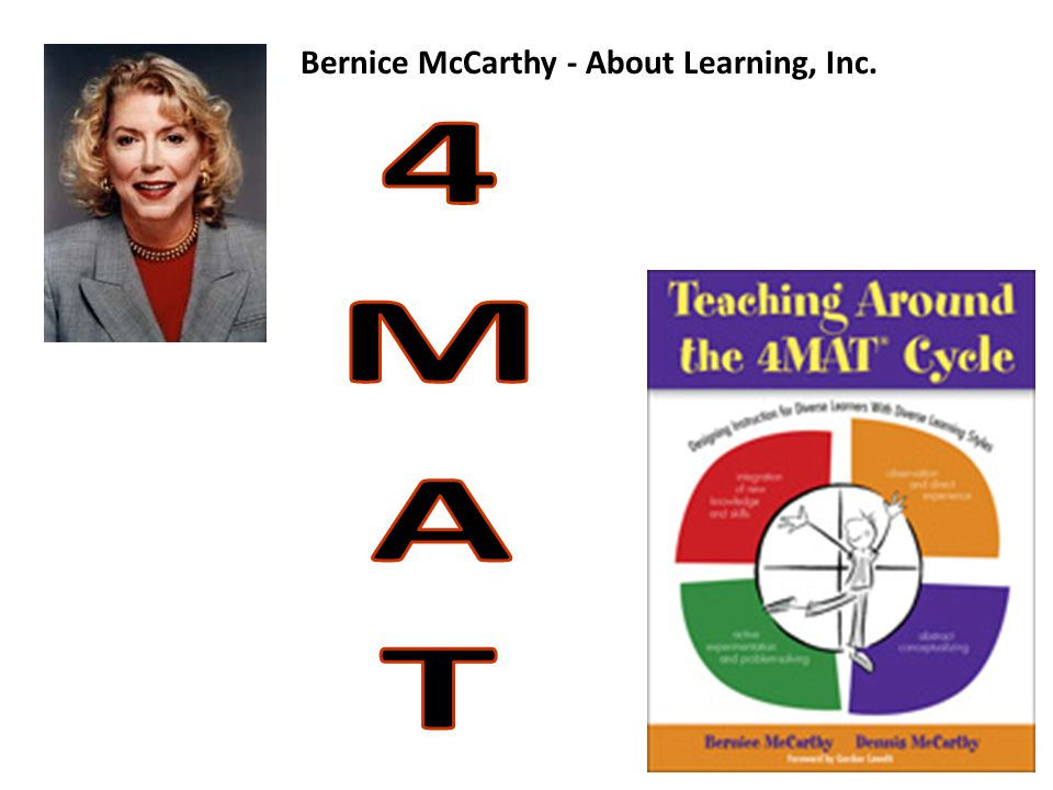 4MAT Bernice McCarthy - About Learning, Inc. Jeanine O'Neill-Blackwell
