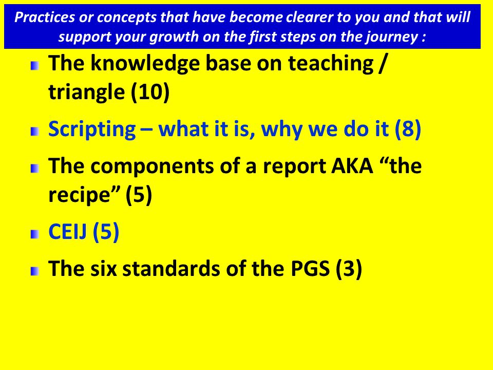 The knowledge base on teaching / triangle (10)