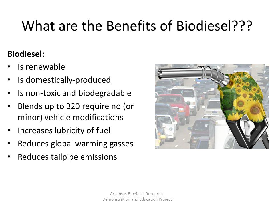 What are the Benefits of Biodiesel