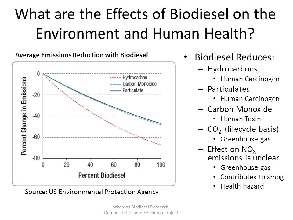 What are the Effects of Biodiesel on the Environment and Human Health