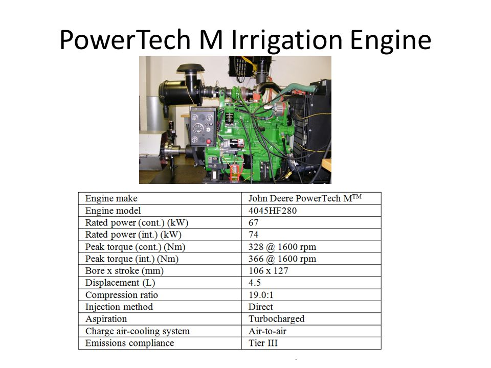 PowerTech M Irrigation Engine