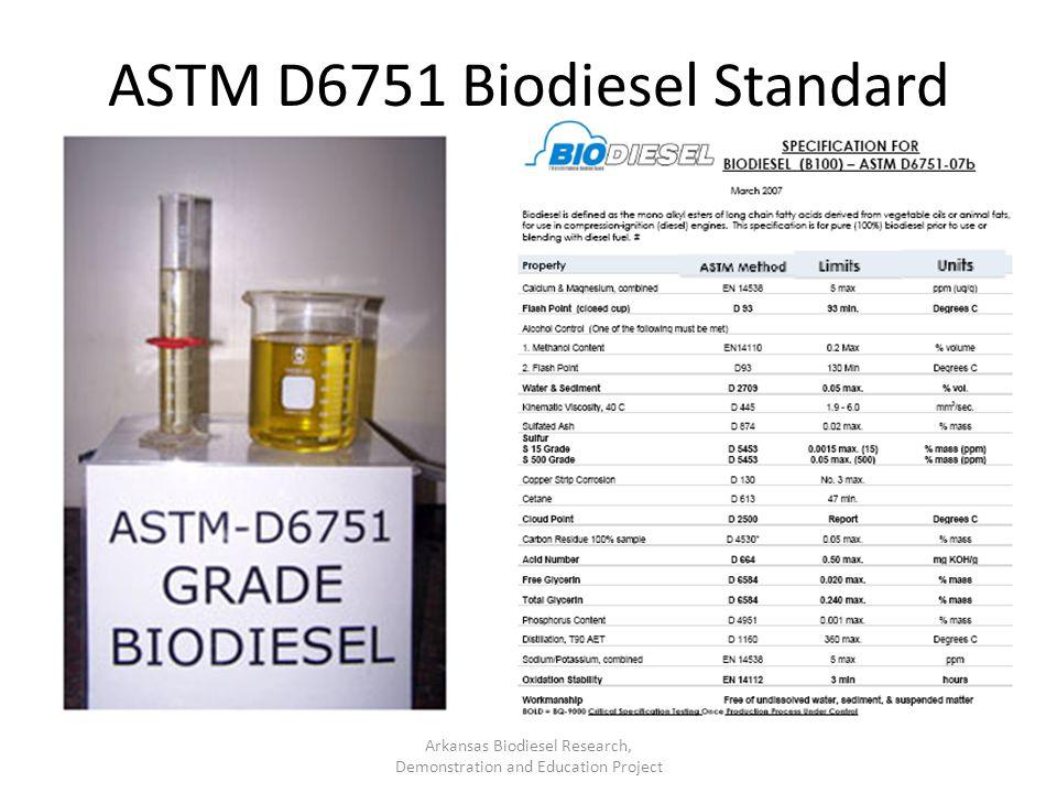 ASTM D6751 Biodiesel Standard