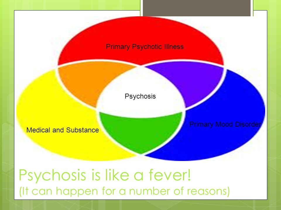 Psychosis is like a fever! (It can happen for a number of reasons)