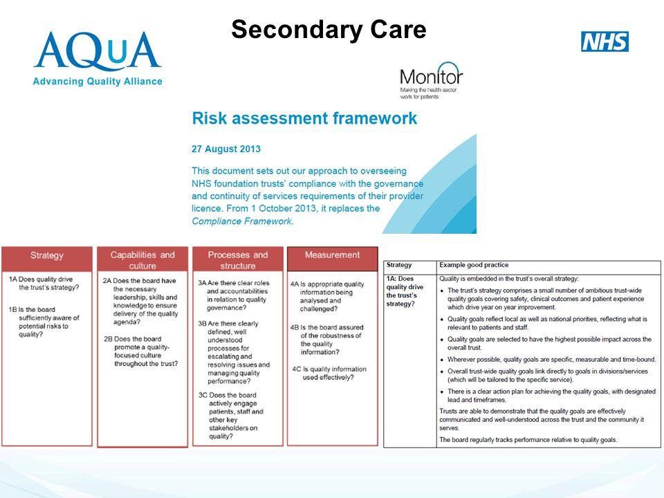 - Secondary Care