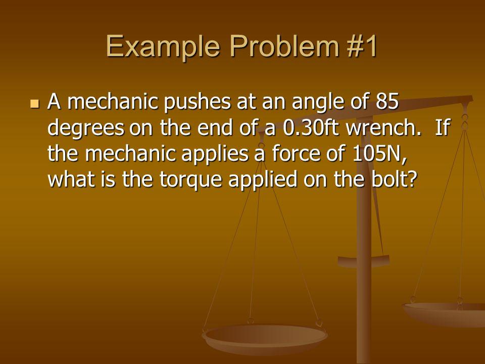 Example Problem #1