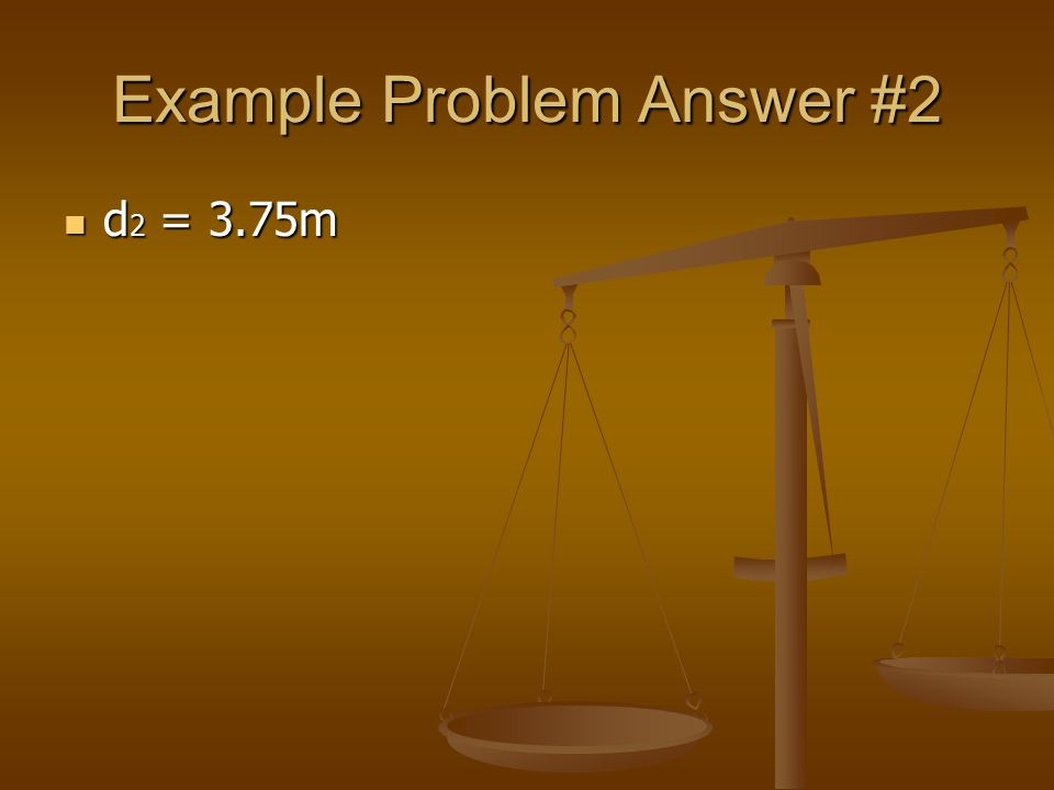 Example Problem Answer #2