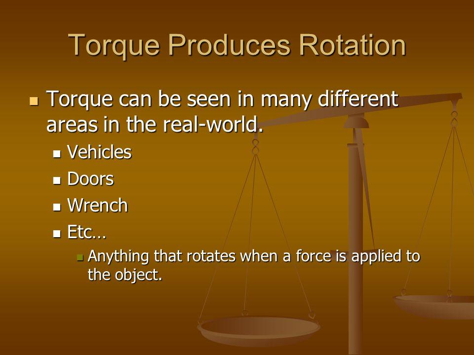 Torque Produces Rotation