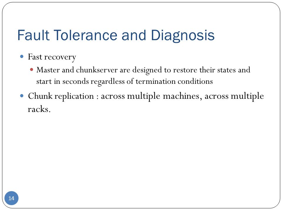 Fault Tolerance and Diagnosis