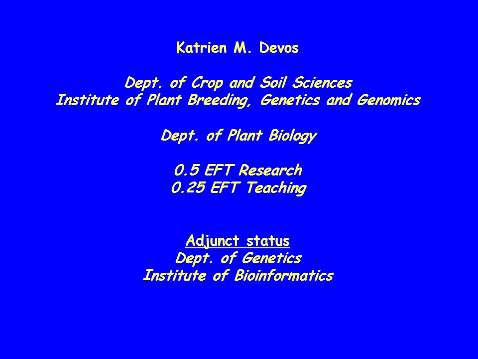Dept. of Crop and Soil Sciences