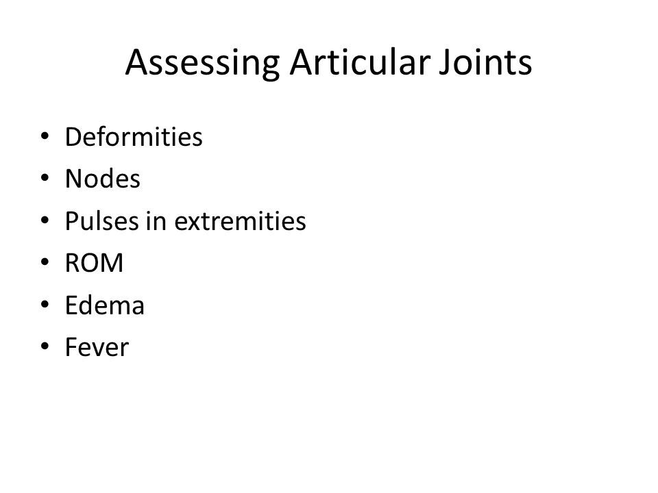 Assessing Articular Joints